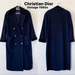 VTG Christian Dior Double Breasted 80s Trench Coat